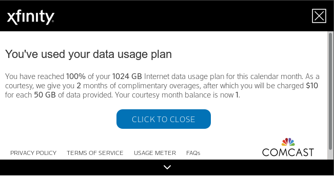 Fuck you from Comcast